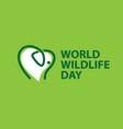 world wildlife day banner vector image vector image