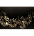 Gears background Black horizontal vector image