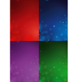 4 Christmas Backgrounds vector image