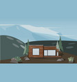 a house in the mountains vector image vector image