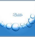 abstract water or soap bubbles background vector image