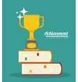 Achievement icon design vector image