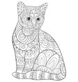 Adult coloring bookpage a cute cat image