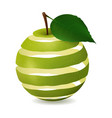 apple cut in a spiral isolated image realistic vector image