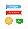 Best offer choice ribbons vector image vector image
