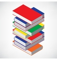 Book Stack Tower vector image vector image