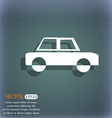Car icon On the blue-green abstract background vector image