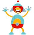 cartoon robot funny comic character vector image vector image