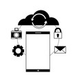 cloud computing smartphone reload connection vector image vector image