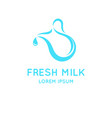 conceptual logo for the sale of milk vector image vector image