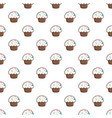 cupcake garnished with sprinkles pattern vector image vector image