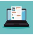 cv recruitment online icon vector image