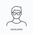 developer line icon outline vector image