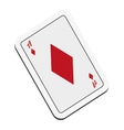 diamond card icon vector image vector image