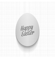 Easter paper Egg Label with greeting Text vector image