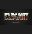 elegant font 3d bold gold style vector image vector image