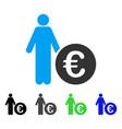 euro investor flat icon vector image vector image