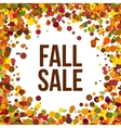 Fall Sale promo label Autumnal confetti template vector image