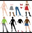 fashion dolls vector image vector image