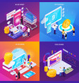 financial technology isometric design concept vector image