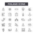 finland line icons for web and mobile design vector image vector image