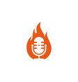 fire podcast logo icon design vector image vector image
