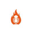 fire podcast logo icon design vector image