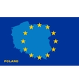 Flag of European Union with Poland on background vector image vector image