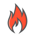 flammable symbol filled outline icon logistic vector image vector image