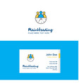 flat team on time logo and visiting card template vector image vector image