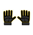 goalkeeper gloves icon vector image vector image
