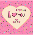 graphics heart-shaped frame with the vector image vector image