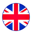 Great Britain United Kingdom flag Round shape vector image vector image