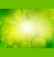 green blurred circle background vector image