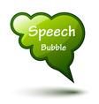 green glossy speech bubble vector image vector image