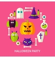 Halloween Party Flat Concept vector image vector image