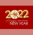 happy new 2022 year party poster template with 3d vector image