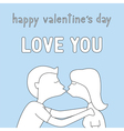Happy valentine s day card13 vector image vector image