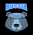head bear Logo for Russia Russian traditional vector image