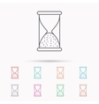 Hourglass icon Sand time sign vector image vector image