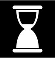 hourglass the white color icon vector image vector image