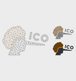 ico lier mesh 2d model and triangle mosaic vector image vector image