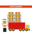 import and export design vector image vector image