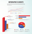 Infographics design elements business charts and g vector image