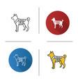 k9 police dog icon vector image vector image