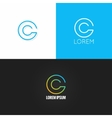 letter C logo alphabet design icon set background vector image vector image