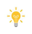 light bulb icon in flat style lightbulb on white vector image