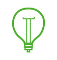 line power bulb light and energy electricity vector image vector image