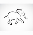 little elephant design on white background wild vector image vector image
