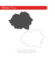 map romania isolated black vector image vector image